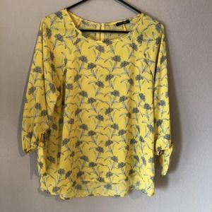 Papermoon Stitch Fix Top Blouse Yellow Womens M